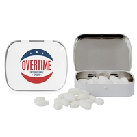 Domed Tin with Football Shaped Mints