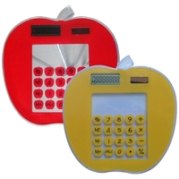 Apple Shape Transparent Touch Screen Solar Calculator