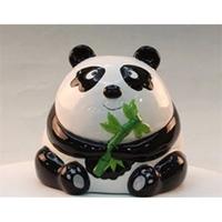 Ceramic Panda Coin Bank Money BOX