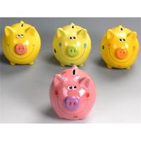 Ceramic Cute Pig Coin Bank Money BOX