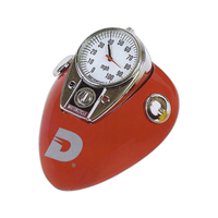 Motorcycle paperweight clock with scratch resistant paint