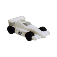 Indy style race car shaped stress reliever