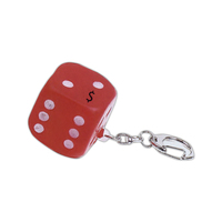 Dice shaped key chain stress reliever
