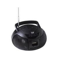 Mini AM FM boom box radio with LCD clock