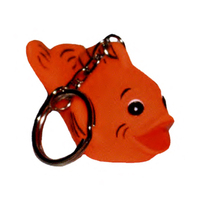 Rubber Gold Fish Key Chain