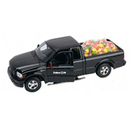 F150 Harley Davidson pickup truck filled with Skittles candy