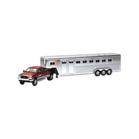 Die cast replica Ford fifth wheel with horse trailer