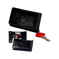 Signature Leather Try Fold Key Case