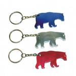 Bear shape bottle opener keychain