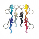Fine figure of a woman shape bottle opener keychain