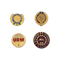 Custom metal service award/recognition lapel pin