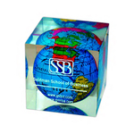 Global Paperweight, Square Shape