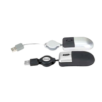 3D Super mini optical USB mouse with retractable cord