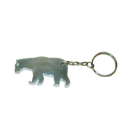 Bear shape bottle opener keychain