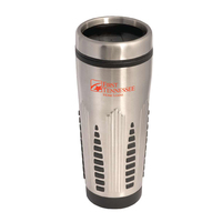 16 oz. stainless steel tumbler w/thumb slide lid