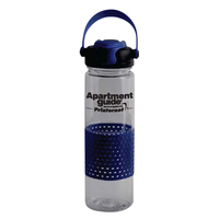 22 oz. polycarbonate bottle with gripper sleeve