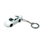 Nascar diecast keychain with side racing graphics