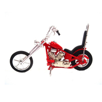 Die cast motorcycle chopper miniature replica