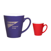 12oz Two-Tone Gloss Cafe Latte Mug, spot color