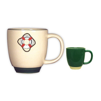 14oz Heartland Bistro Mug with Almond Trim, spot color