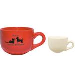 16oz Vitrified Latte Bowl Mug, spot color