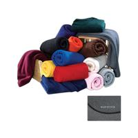 Fleece Blanket - Charcoal Gray Fleece Blanket