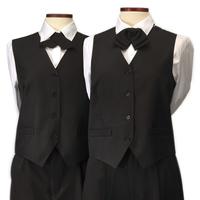 Vests - Black Ladies Waiters Vest
