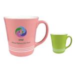 16oz Two-Tone Banded Cafe Mug, spot color
