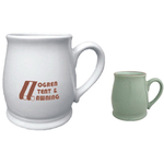 16oz Two-Tone Designer Pot Bellied Mug, spot color