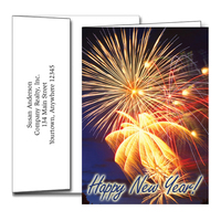 New Year Greeting Cards w/Imprinted Envelopes