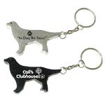 Dog shape bottle opener keychain