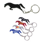 Horse shape bottle opener keychain