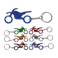 Motorbike shape bottle opener keychain