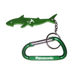 Shark shape keychain with carabiner