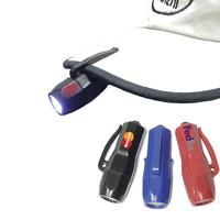 Miniature flashlight with clip