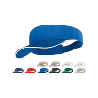Brushed cotton twill visor with sandwich peak