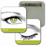 3D Lenticular Lapel Pin Eye Blinking