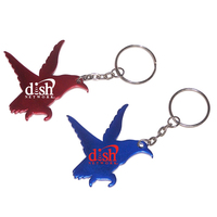 Eagle shape bottle opener key chain