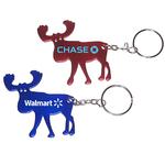 Elk shape bottle opener key chain