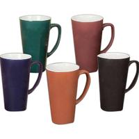 Two tone funnel cup terra cotta-white