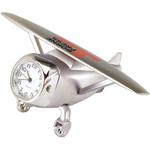 Silver Die Cast Airplane Clock
