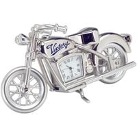 Silver Die Cast Motorcycle Clock