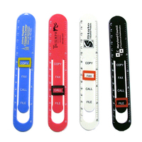 Message clip ruler