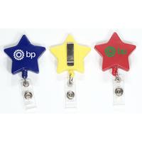Star shape retractable badge holder