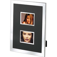 """Black and Silver Photo Frame, Double 2"""" X 3"""""""