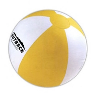 "Official Size Inflatable Beach Ball, Large 16"" - E618YW"
