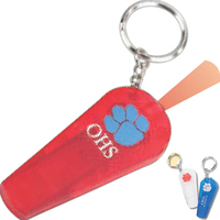 Translucent Safety Whistle with Press-Light and Key Holder