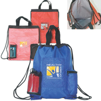 Drawstring Backpack Cooler with Pockets