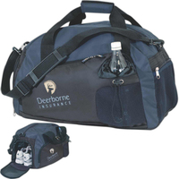Two Tone Sport Bag with Shoe Compartment