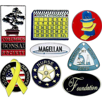 Lapel Pin, Die Struck Iron with Soft Enamel Color Fill
